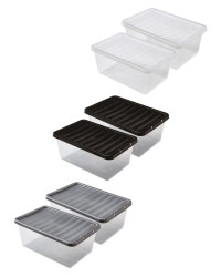 12L Storage Boxes 2 Pack