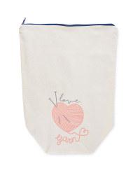 So Crafty I Love Yarn Bucket Bag