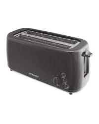 Ambiano Black Long Slot Toaster