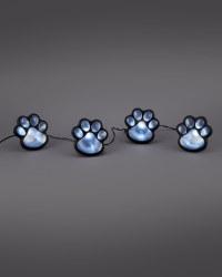 Solar Cat Pawprint Lights