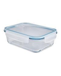 Large Blue Glass Food Storage Dish