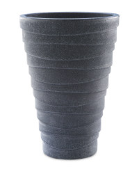 Charcoal Tall Round Planter