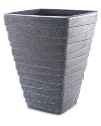 Charcoal Tall Square Planter