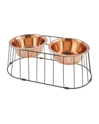 Large Metal Raised Pet Bowls