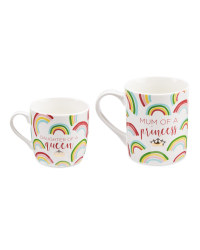 Mother Of A Princess Mugs 2 Pack