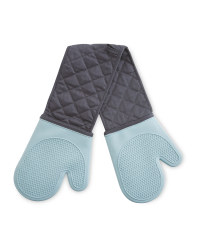 Blue Silicone Double Oven Glove