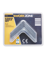 Workzone 70mm Bracket 6-Piece Set