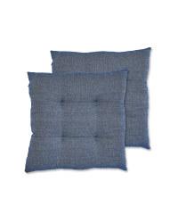 Kirkton House Blue Seat Pads 2 Pack