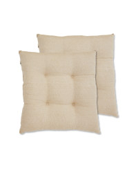 Kirkton House Taupe Seat Pads 2 Pack