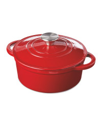 Red Cast Iron Casserole Dish