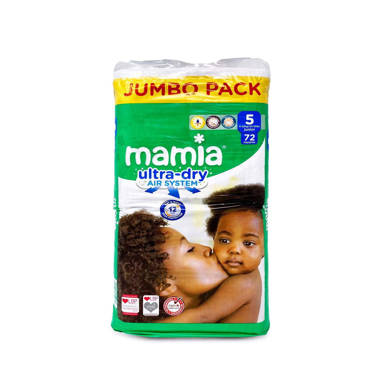 Mamia Nappies Size 5 72 Jumbo Pack