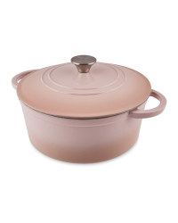 Pastel Pink Cast Iron Casserole Dish