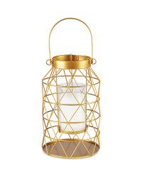 Gold Citronella Candle Lantern