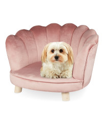 Pink Scalloped Pet Chair