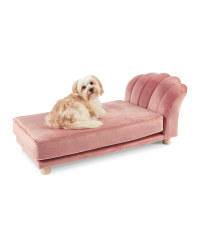Pink Scalloped Pet Bed