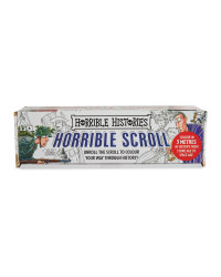 Horrible Histories Colouring Scroll