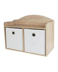 Children's White Toy Box