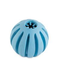 Small Blue Crunch Ball Dog Toy