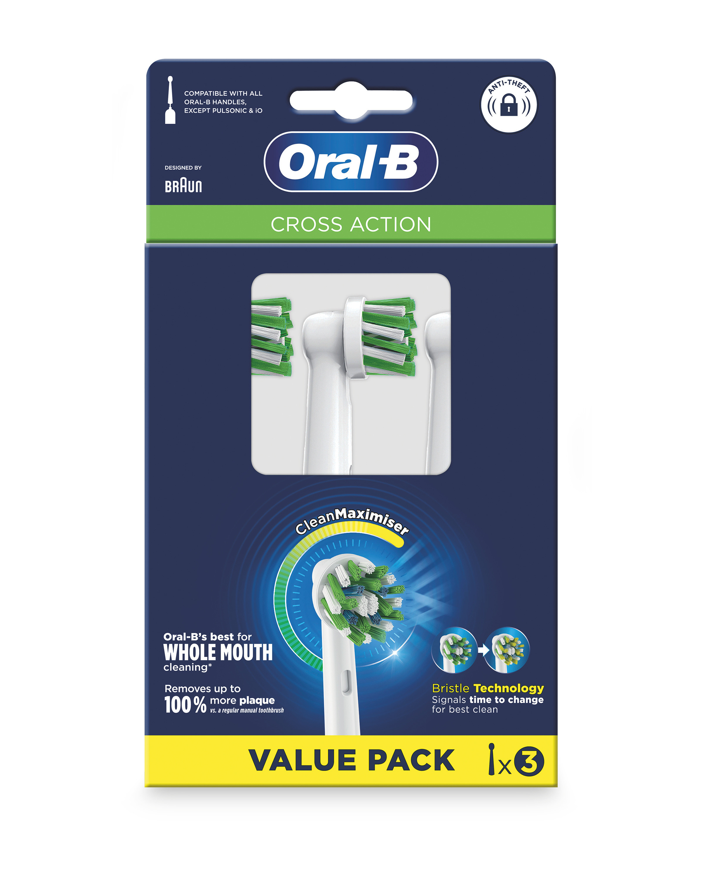 Oral B Toothbrush Heads 3 Pack