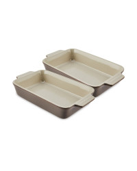 Small Grey Rectangle Dishes 2 Pack