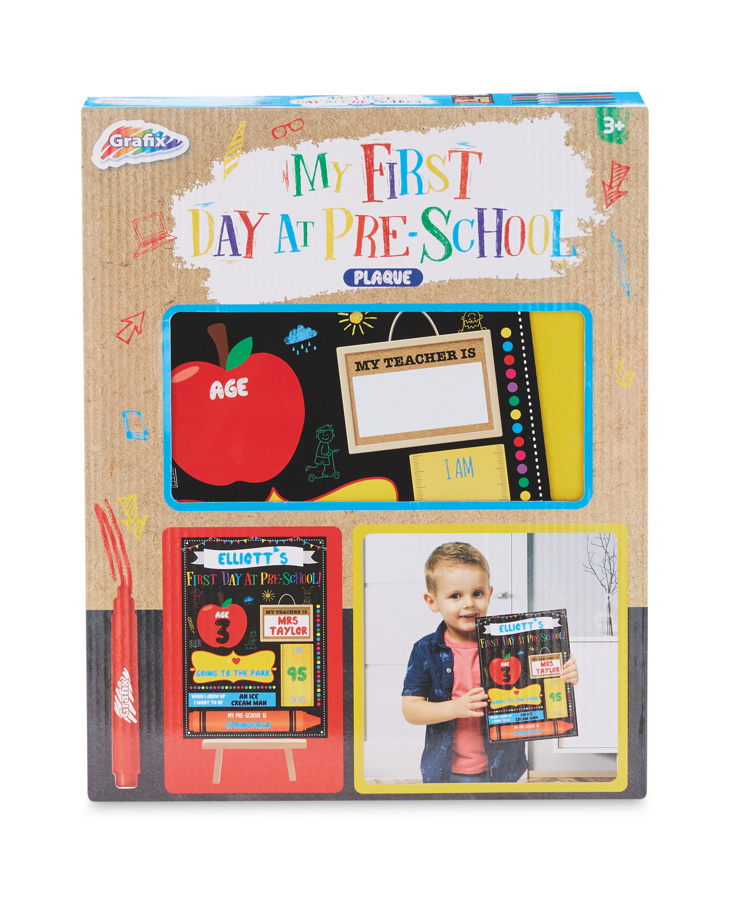 My First Day at Preschool Plaque