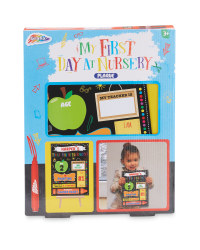 My First Day at Nursery Plaque