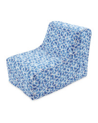 Inflatable Blue Mosaic Lounger Chair