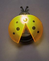 Yellow Solar Ladybird Light