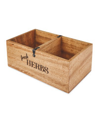 Wooden Storage Box with Divider