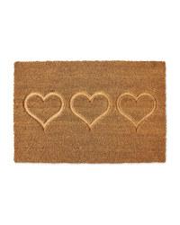 Kirkton House Heart Coir Mat