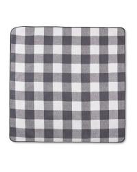 Grey & White Check Picnic Blanket