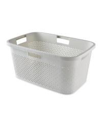 Curver White Laundry Basket