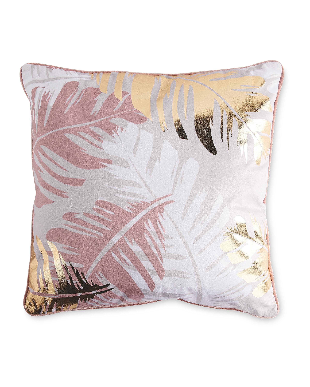 Pink Leaf Statement Cushion