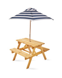 Children's Picnic Bench and Parasol