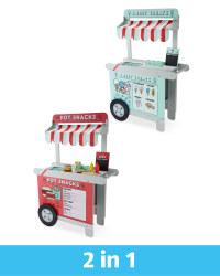Wooden 2-in-1 Reversible Snack Cart