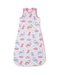 80-95cm Pink Dino Baby Sleeping Bag