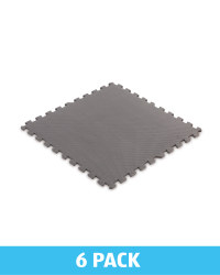 Grey Solid Multi-Purpose Floor Mats