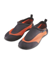 Crane Adult Black/Orange Aqua Shoes