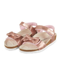 Lily & Dan Rose Gold Kids' Sandals