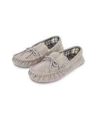 Avenue Men's Grey Moccasin Sippers