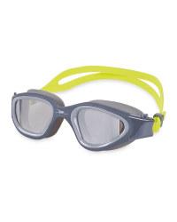 Crane Adult Lime/Grey Swim Goggles