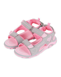 Kid's Grey/Pink Trekking Sandals