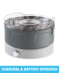 2 in 1 Portable Charcoal BBQ