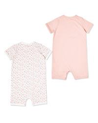 Pink Baby Romper 2 Pack