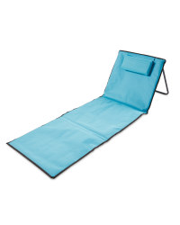 Blue Foldable Beach Mat/Backrest