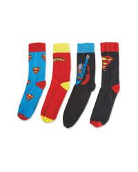 Men's Superman Socks 4 Pack
