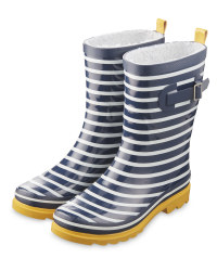Avenue Adult's Blue/White Wellies