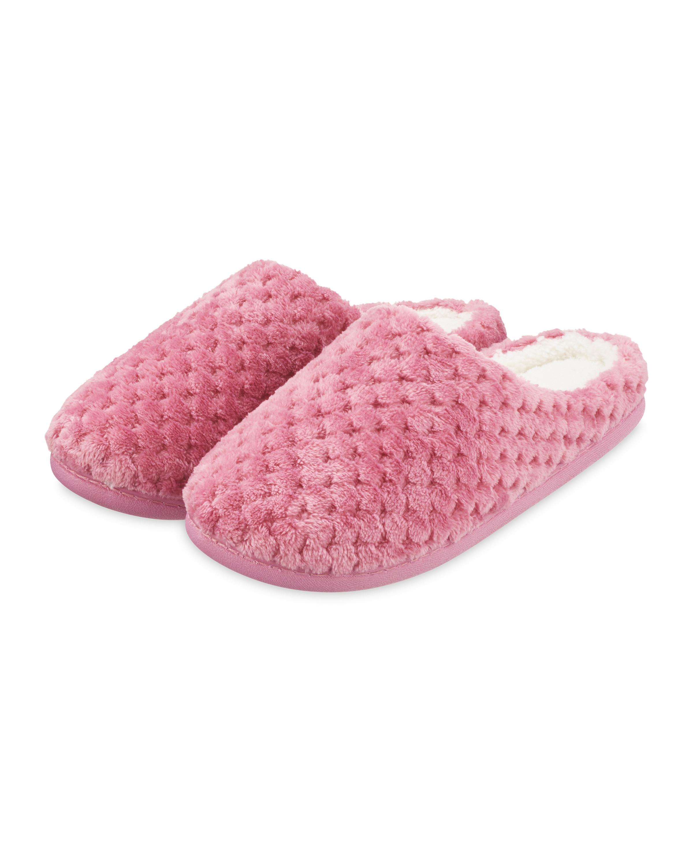 Ladies' Pink Memory Foam Slippers