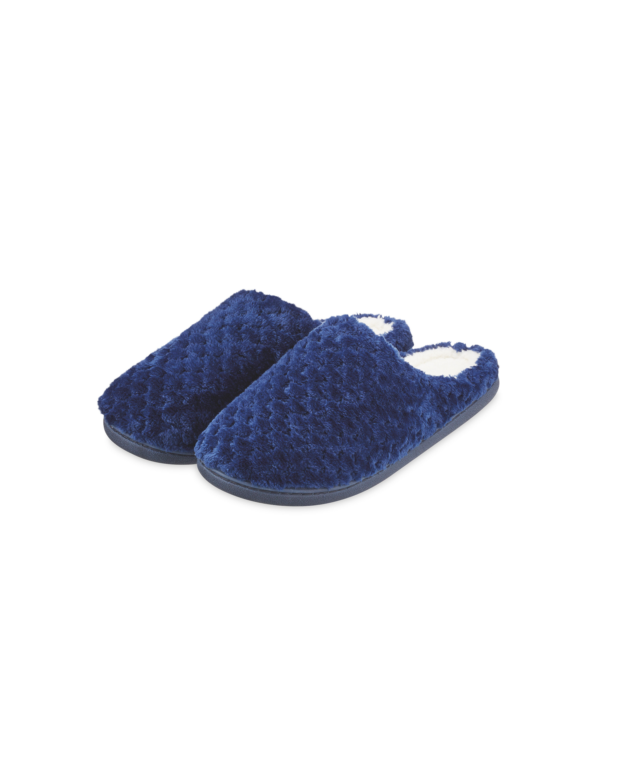 Ladies' Navy Memory Foam Slippers