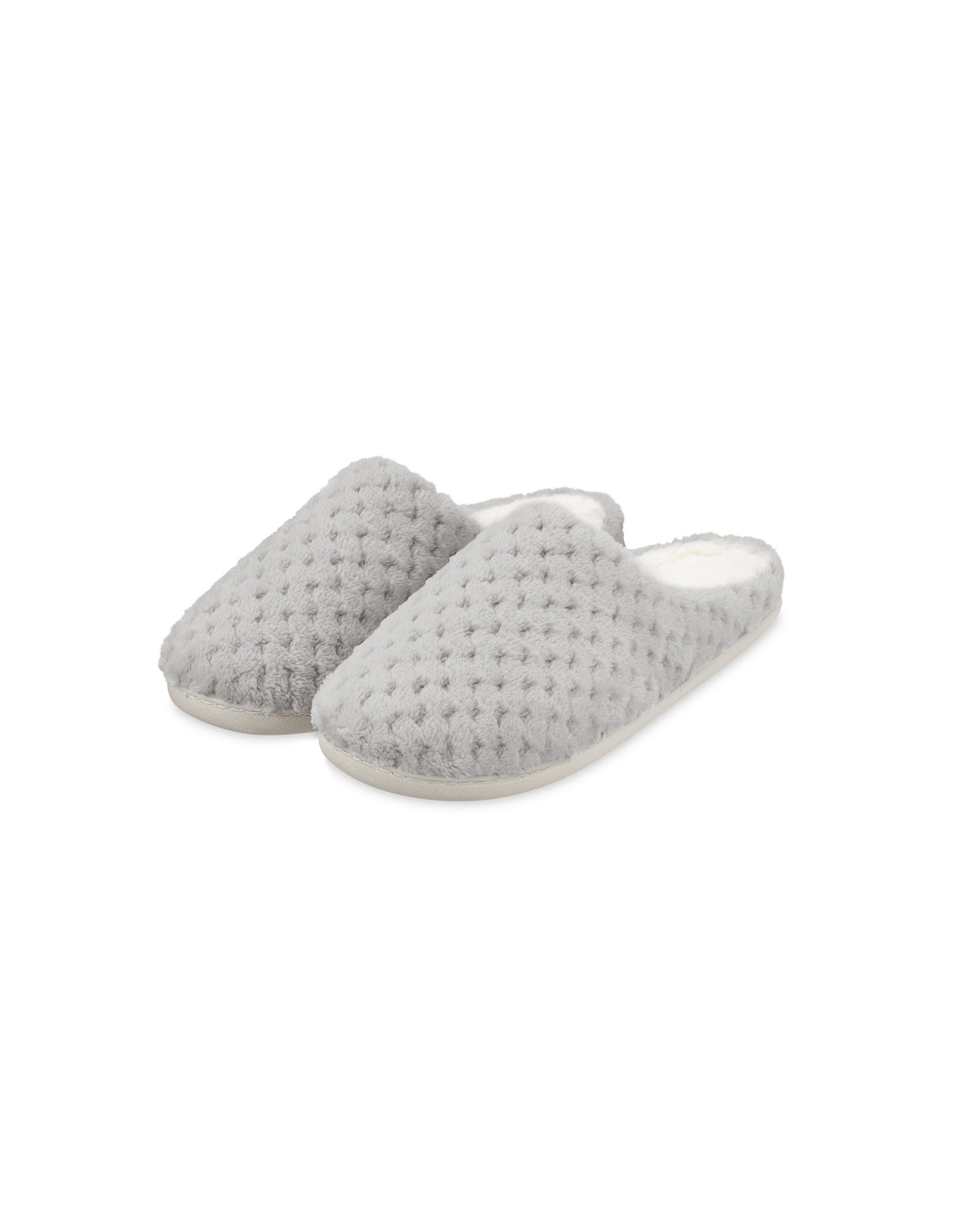 Ladies' Grey Memory Foam Slippers